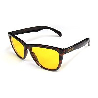 ダン シェイディーズ ( DANGSHADES ) ORIGINAL Gloss Dark Brown Tortoise x Clear Yellow NIGHT RIDE スケートボード...