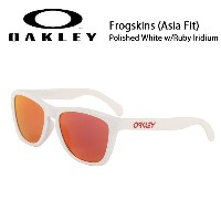【OAKLEY/オークリー】 サングラス Frogskins フロッグスキン (Asia Fit) Polished White w/Ruby Iridium oo9245-44 【雑貨】...