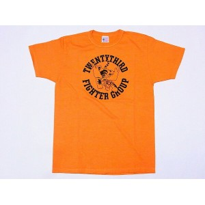 Buzz Rickson's[バズリクソンズ] Tシャツ BR77610 23rd FIGHTER GROUP (オレンジ)