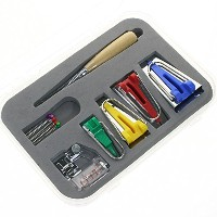 BIGTEDDY - Fabric Bias Tape Maker Kit for Sewing Quilting Awl and Adjustable Binder Foot w/ Case (...