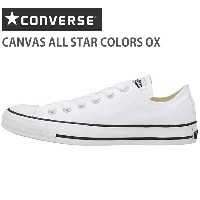 CONVERSE CANVAS ALL STAR COLORS OXコンバース キャンバス オールスター カラーズ OX1CJ606 WHITE/BLACK