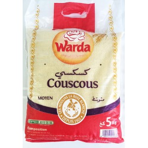 クスクス中粒 5kg袋 Couscous Moyen/Middle Grain 5kg (Tunisia)