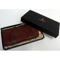 Three Eight×Vasco(ヴァスコ)[Leather Voyage Round Zip Long Wallet/U.S.MAIL]Three Eight別注!/イタリアンオイルレザー...