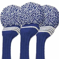 Jan Craig Royal White Stripe Individual Headcover【ゴルフ アクセサリー>ヘッドカバー】