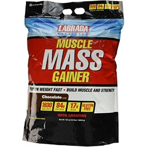 Labrada Nutrition Muscle Mass Gainer, Chocolate, 12 Pound by Labrada