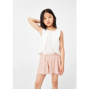 【SALE 30%OFF】ショートパンツ .-- PAILLET-R (ミディアムピンク) 子供・キッズ MANGO