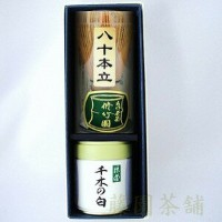 matcha green tea, chiginoshiro 40g can with tea whisk(80)【powder】【matcha】