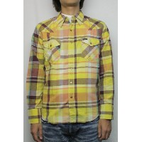REDWOOD別注 Wrangler (レッドウッドxラングラー) 09' WESTERN SHIRTS MADRAS (YELLOW) M size