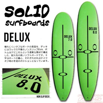SOLID SURF BOARDS ソリッドサーフボード DELUX TOUGH 7.0/8.0 【サーフィン サーフボード】【日本正規品】