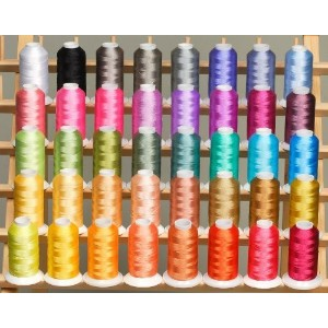 New ThreadNanny 40 (1100 yds) of Polyester Embroidery Thread Cones - Frosty colors by ThreadNanny