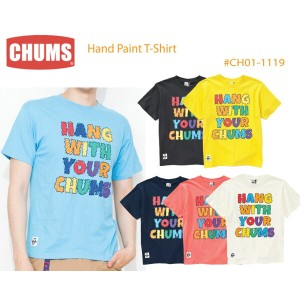 CHUMS チャムス CH01-1119 Hand Paint T-Shirt ハンドペイントTシャツ  ※取り寄せ品