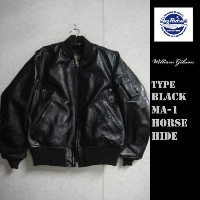 Buzz Rickson's WILLIAM GIBSON COLLECTION★ブラックホースハイドレザーMA-1 TYPE BLACK MA-1 HORSE HIDE★BR80465バズリクソンズ...