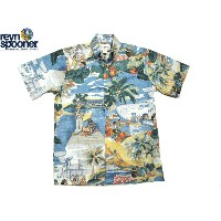 REYN SPOONER(レインスプーナー)GOLD LABEL/#125 FULL OPEN B.D. HAWAIIAN SHIRTS/TRANS PACIFIC 40's SCENIC