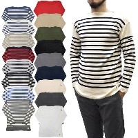 """【18 COLOR】FILEUSE D'ARVOR(フィルーズ ダルボー) """"BREST"""" BOAT NECK BASQUE SHIRTS(ボートネックバスクシャツ) COTTON KNIT..."""