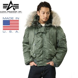 15%OFFクーポン対象◆ALPHA INDUSTRIES アルファインダストリーズ MADE IN U.S.A N-2B フライトジャケット ギフト プレゼント WIP メンズ ミリタリー...