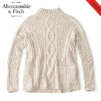 アバクロ Abercrombie&Fitch 正規品 レディース セーター BOXY CABLE TURTLENECK SWEATER 150-490-0797-100