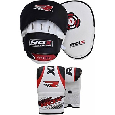 RDX Boxing フォーカス Bag MMA Training Punching Hook & Jab Strike Pads ターゲット With Bag Mitts (海外取寄せ品)