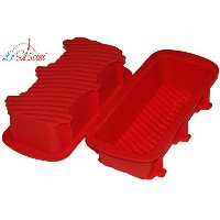 Le Silicone, Set of 2 Nonstick Silicone Bread and Loaf Pan by Le Silicone