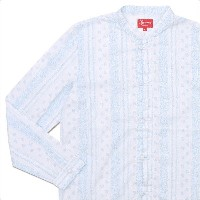 SUPREME(シュプリーム) Toggle Band Collar Shirt (長袖シャツ) WHITE 216-001402-140
