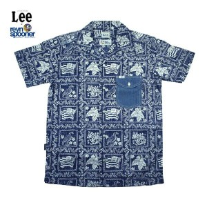 Lee × REYN SPOONER リー × レインスプーナー OPEN COLLOR SHIRTS LS1238-09(NAVY)