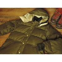 CRESCENT DOWN WORKS x CONEY ISLAND DOWN JACKET [OLIVE JUNGLE CLOTH] / クレセントダウンワークス x コニーアイランド別注...