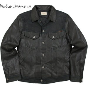 """【SALE】20%OFF★Nudie Jeans co/ヌーディージーンズ""""PERRY"""" LEATHER & CRUST レザージャケット/タイプIIIレザージャケット BLACK(ブラック)"""