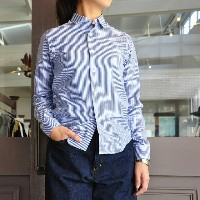 INDIVIDUALIZED SHIRTS(インディビジュアライズドシャツ)/ CLASSIC BENGAL STRIPE LADIES JAN SHIRT(BLUE)
