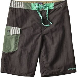 パタゴニア メンズ 水着 水着 Patagonia Patch Pocket Wavefarer 20in Board Short Ink Black