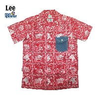 Lee × REYN SPOONER リー × レインスプーナー OPEN COLLOR SHIRTS LS1238-09(RED)