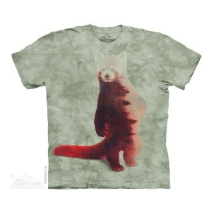 The Mountain Tシャツ Red Panda Forest (レッサーパンダ メンズ 男性用 男女兼用) S-L【輸入品】半袖