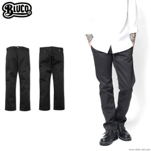 【BLUCO/ブルコ】BLUCO SLIM WORK PANTS (BLACK) [OL-063]