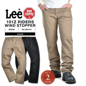 20%OFFクーポン対象商品!Lee リー LM4101 AMERICAN RIDERS 101Z TWILLパンツ WIND STOPPER《WIP》 男性 春 ギフト プレゼント