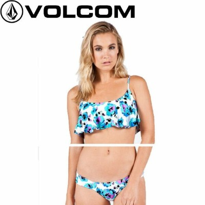 【VOLCOM】ボルコム 2015春夏 FLORAL JUNKIE FLUTTER & FULL ビキニ 水着 クロップトップ XS・S・M BRB【あす楽対応】【正規品】