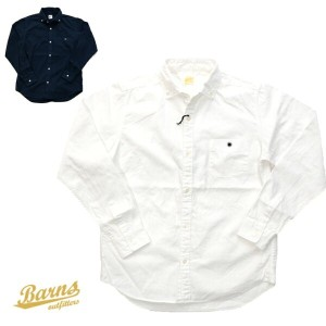 BARNS outfitters バーンズ ボタンダウンシャツ BR-4965N