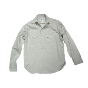 【期間限定30%OFF!!】POST OVERALLS(ポストオーバーオールズ)/#1298 TROPI-CRUZ LLC FEATHER POPLIN SHIRTS/stone【父の日】【ギフト】
