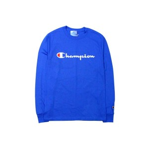 CHAMPION LIFE COTTON PATRIOTIC LOGO L/S T-SHIRTS (SURF THE WEB)チャンピオン/ロングTシャツ/青