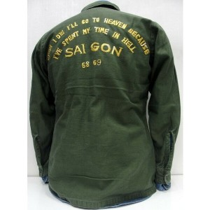 LOSTHILLS(ロストヒルズ)FROM THE GARRET [HORIZONTAL US ARMY UTILITY SHIRTS]Made in U.S.A./フロムザギャレット...