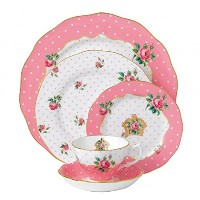 Royal Albert Cheeky Pink 5-Piece Place Setting by Royal Albert
