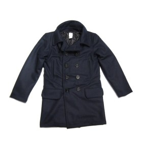 【期間限定30%OFF!】POST OVERALLS(ポストオーバーオールズ)/#2113RL P-POST-RL WOOL MELTON LONG P-COAT/navy