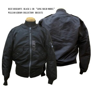 """BUZZ RICKSON'S バズリクソンズ BLACK L-2B """"LONG SOLID MODEL"""" WILLIAM GIBSON COLLECTIONBR13175フライトジャケット..."""