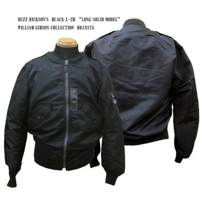 """BUZZ RICKSON'S バズリクソンズ BLACK L-2B """"LONG SOLID MODEL"""" WILLIAM GIBSON COLLECTIONBR13175「NC」フライトジャケット..."""
