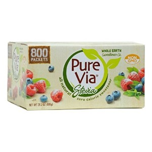 Whole Earth Pure Via Stevia Sweetener 28.2oz (800 packets) 【海外直送品】 [並行輸入品]