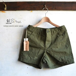 【 30%OFFセール】orslow オアスロウFATIGUE SHORTS (ARMY GREEN) 【00-7002-76】