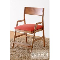 ISSEIKI DESK CHAIR デスクチェア 選べるカラー 幅45 (MBR/WH+RED) 木製家具 FIORE DESK CHAIR (MBR/WH)+COVER (RED)