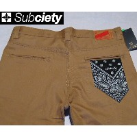 SubcietyサブサエティWORK PANTS -CLASSIC- PRINTED(PAISLEY)BEIGE
