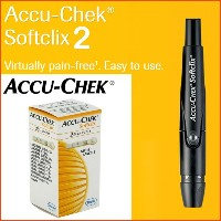 [Roche] Accu-chek Softclix2 Lancing Device/ Blood Pressure monitor /25 Lancets/ Virtually pain-free...