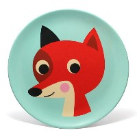 ■ OMM DESIGN MELAMINE FOX WITH MINT (OMM デザイン メラミン プレート フォックス ウィズ ミント) 【AS】