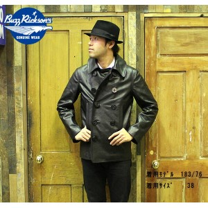 "No.BR80420 BUZZ RICKSON'S バズリクソンズWILLIAM GIBSON COLLECTIN""type PEA COAT HORSE HIDE"""