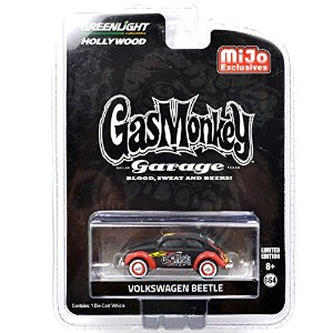 "GREENLIGHT 1:64SCALE Mijo Excusive Gas Monkey Garage ""VOLKSWAGEN BEETLE"" グリーンライト 1:64スケール アメリカトイショップ..."