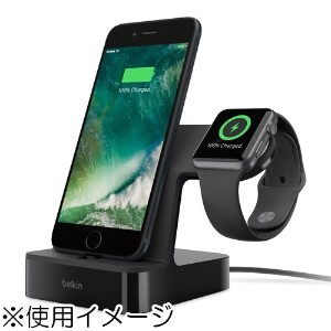 ベルキン F8J200QEBLK PowerHouse充電ドック ブラック 〔Apple Watch/iPhone用〕